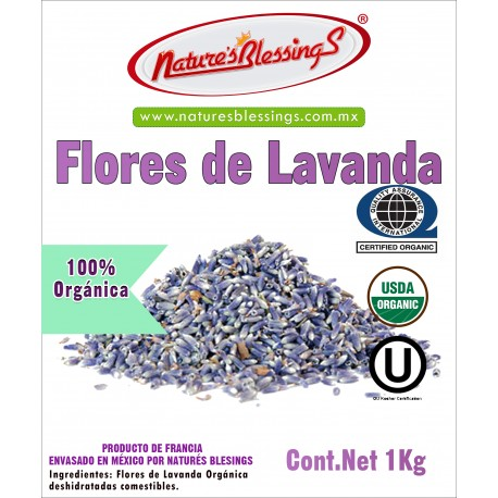 Flores de Lavanda comestible orgánica