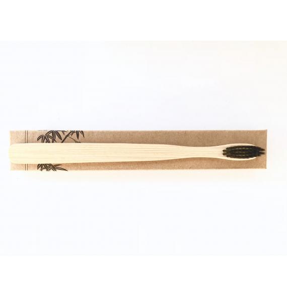 Cepillo de dientes de bambu con carbon activado