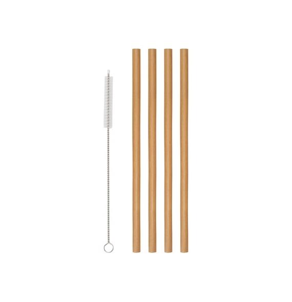 Popotes de Bambu 4 pzas...